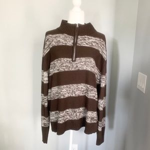 Beverly Hills Polo Club 1/4 Zipup Sweater, size XL